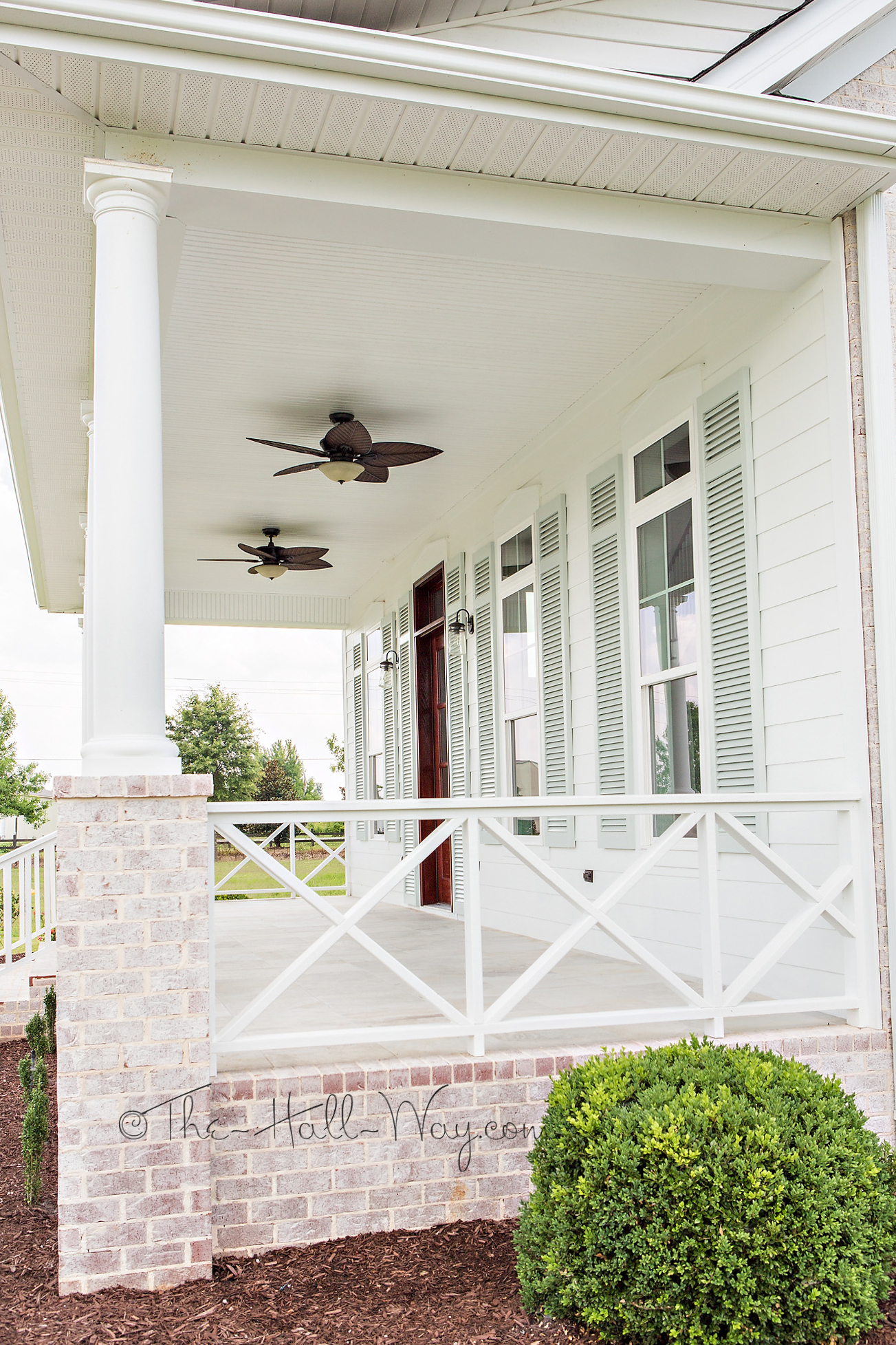 Farmhouse Front Porch Railing Ideas Eastover Cottage The Exterior The Hall Way