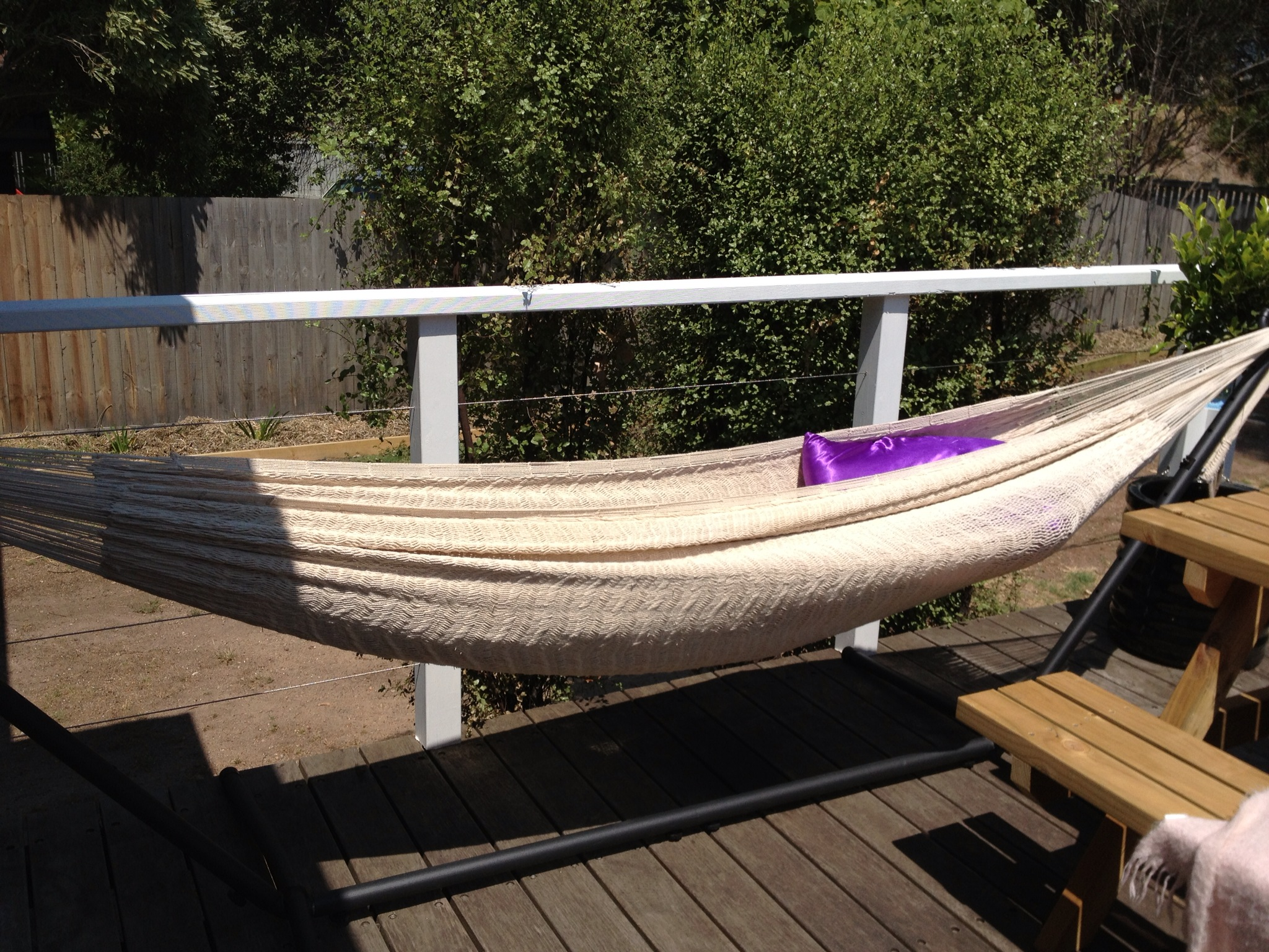 Into the light and living in the wild for Balcony hammock