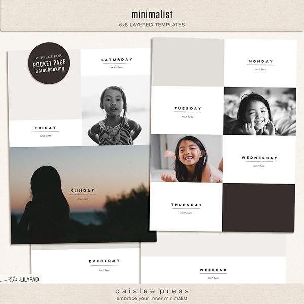minimalist 6x8 photo templates by paislee press