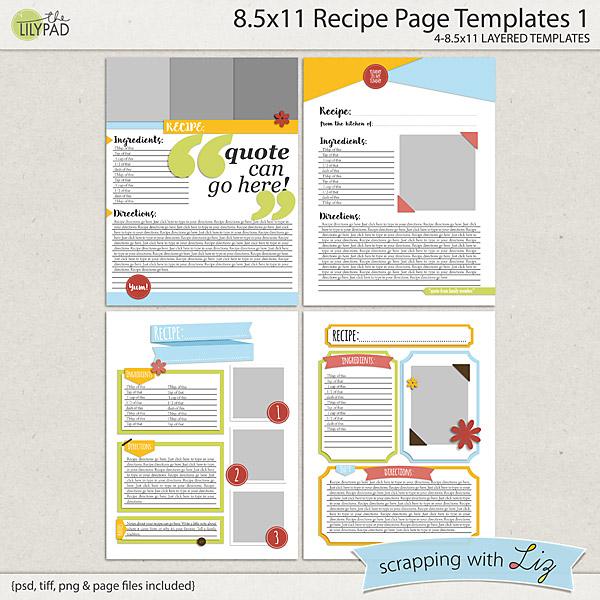 word template recipe