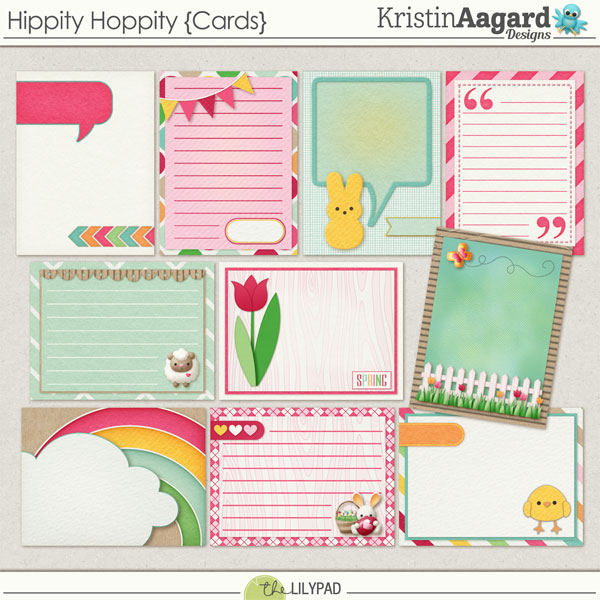 Digital Scrapbook - Hippity Hoppity Journal Notecard Kristin Aagard