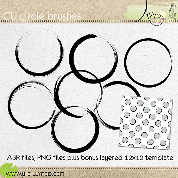 Digital Scrapbooks for Commercial Use \u2013 The Lilypad - circle template