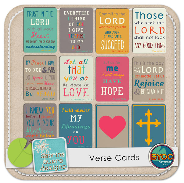 The Lilypad  Journal Cards  Verse Cards