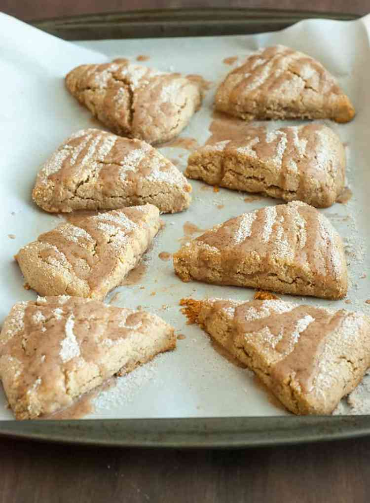 Cinnamon Scones - Best sweet cinnamon flavored scones I've ever had! And they're surprisingly healthy!