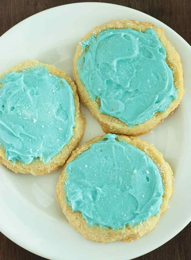These tasty Frosted Cookies are just about the best cookies I've ever had and their actually sugar free and low carb friendly.