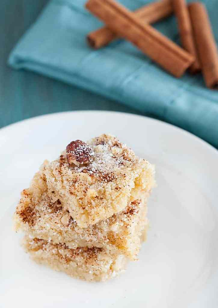 Cinnamon Pecan Cookie Bars - these sweet and simple bars are delicious as a treat or as a quick breakfast fix.