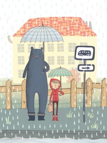 30 вдохновляющих иллюстраций: капает дождь