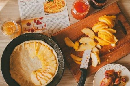 Готовим вместе: персиковый пирог