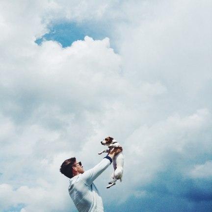 Прыгать от счастья выше неба джек расселы Мона и Холст мона (7)