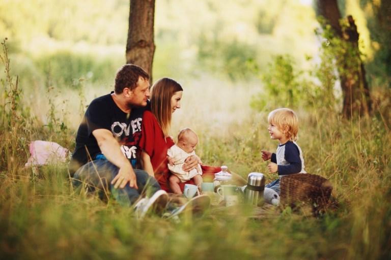 Семейная съемка: Филипп, Мирослава, Максим и Аня