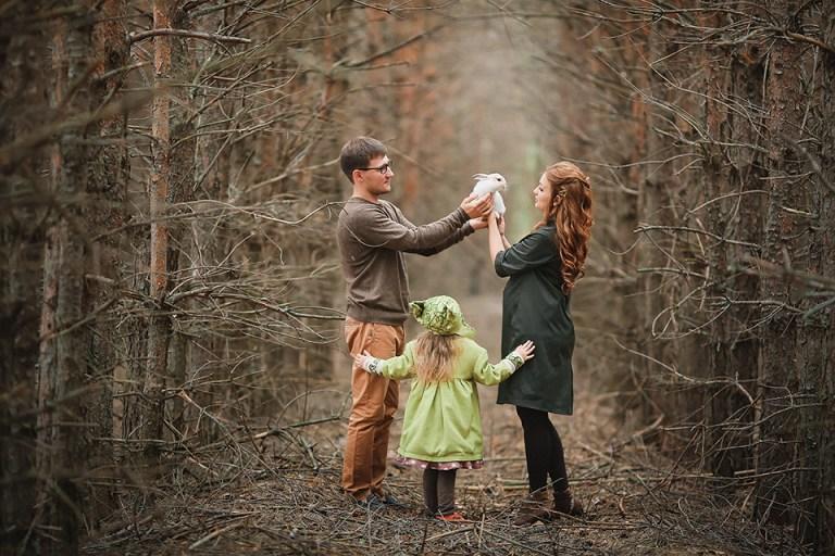 Семейная съемка: зачарованный осенний лес