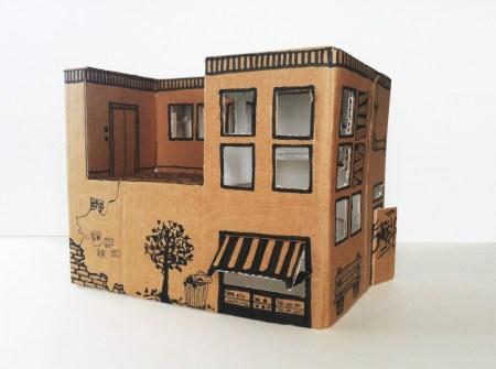 Инструкция от мамы: делаем домик из картонной коробки