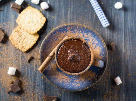Рецепт горячего шоколада с корицей и апельсином