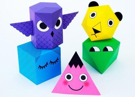 Мастерим объемных зверушек по законам геометрии