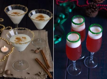 Новогодние напитки: пунш с шампанским и рождественский эгг-ног
