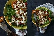 Рецепт салата с хурмой и козьим сыром