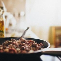 Рецепт блинов с мясом