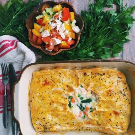 Рецепт рыбного пирога с овощами