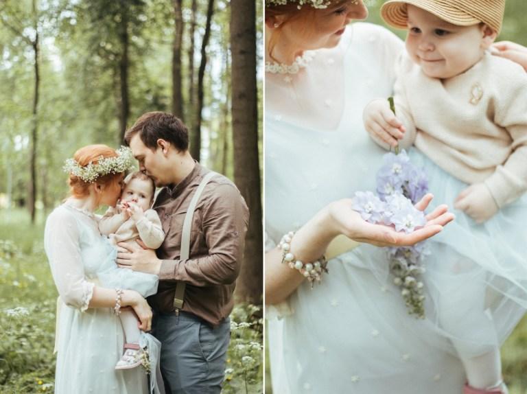Лесное очарование: семейная фотосессия