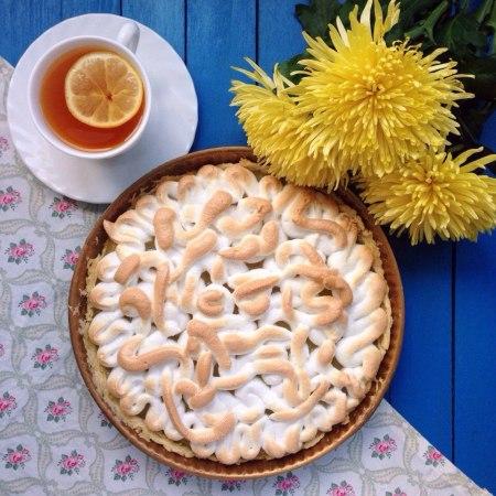 Рецепт лимонного пирога с меренгой