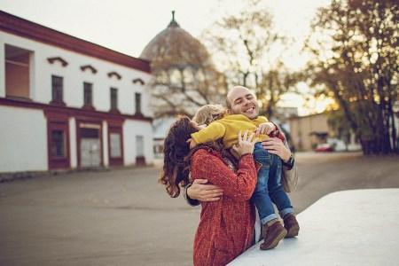 Прогулка по Москве: Аня, Александр и Матвей