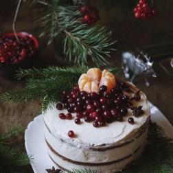 Рецепт пряничного торта с мандаринами