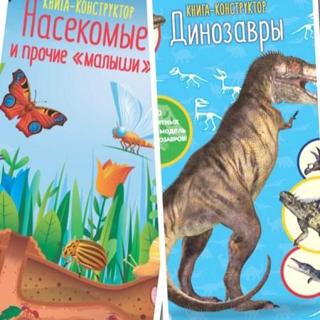 Книги: новинки из серии «Книга-конструктор» издательства «Хоббитека»
