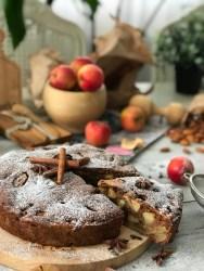 Веганский яблочный пирог