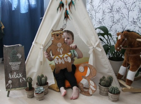 Детский праздник в стиле индейцев