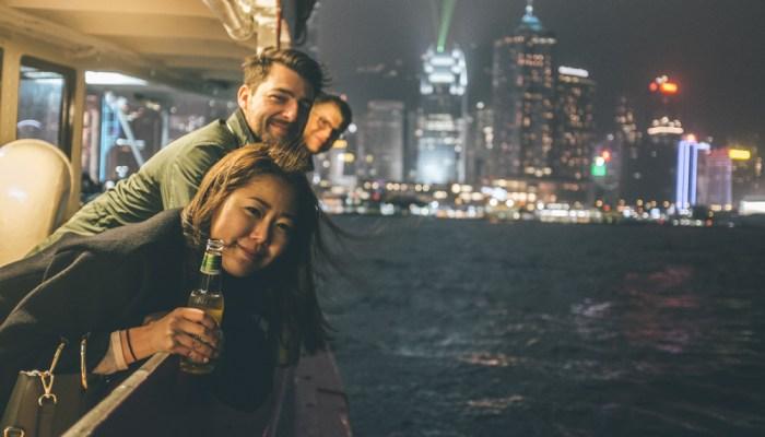 Sunday night in Hong Kong