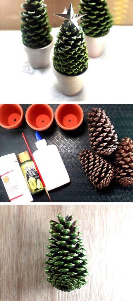 diy pine cone christmas ornaments