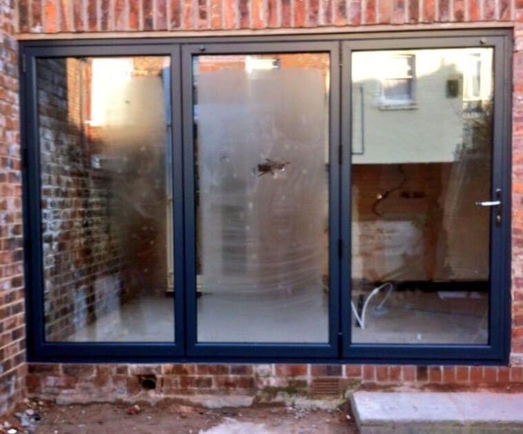 Grey Aluminium Bi Folding Doors Chorlton