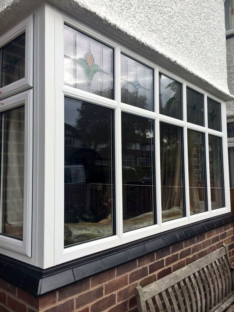 Square Bay Window Black Cill The Window Company