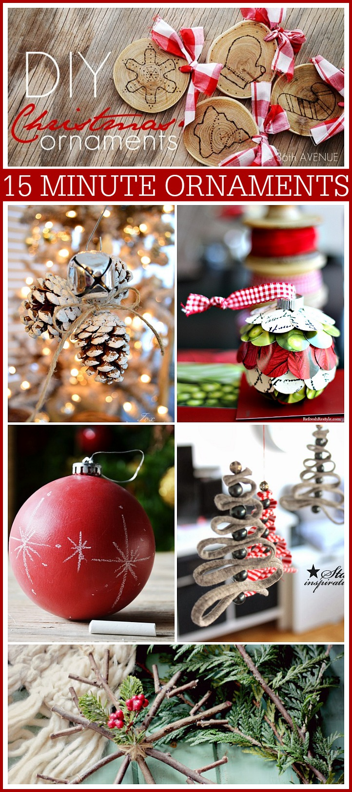 Diy Christmas Ornaments 15 Minute Diy Christmas Ornaments The 36th Avenue