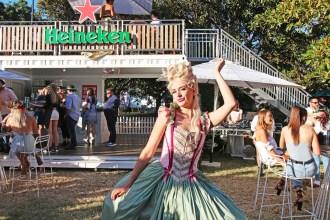 The lovely Anya Anastasia pays Heineken Saturday a visit.