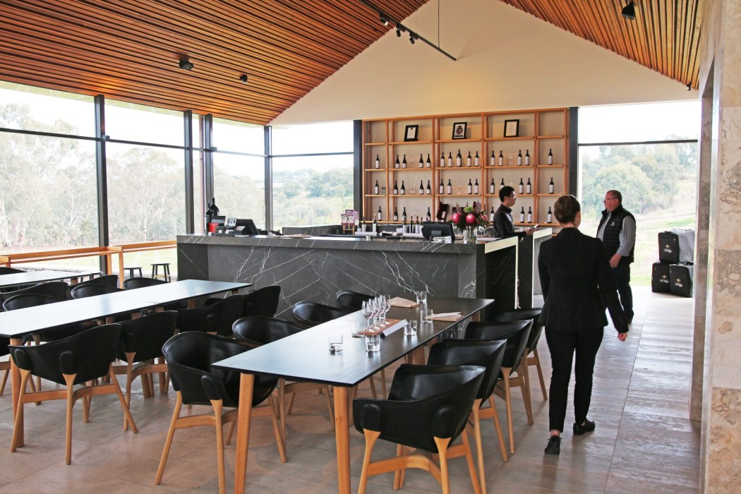 The gorgeous architectural design of St Hugo Wines.