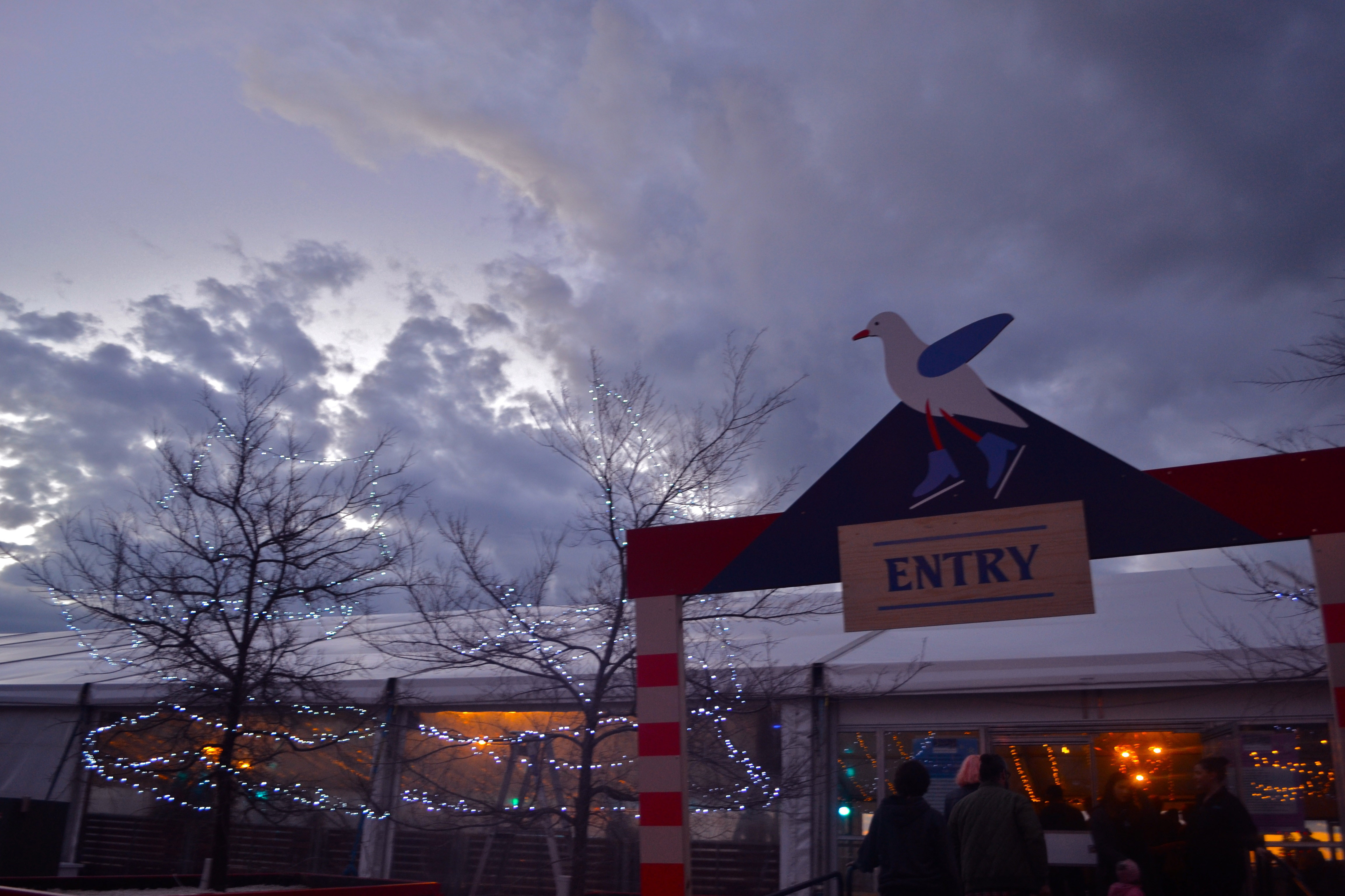 Entry to Winterfest's amazing waterfront ice rink.