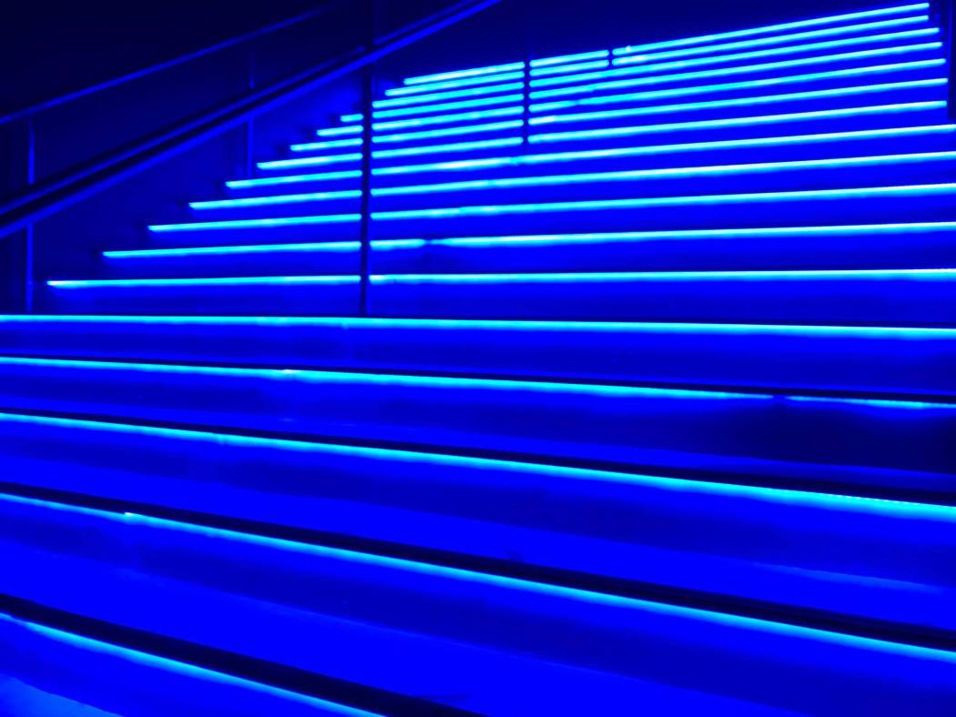Some lit af stairs