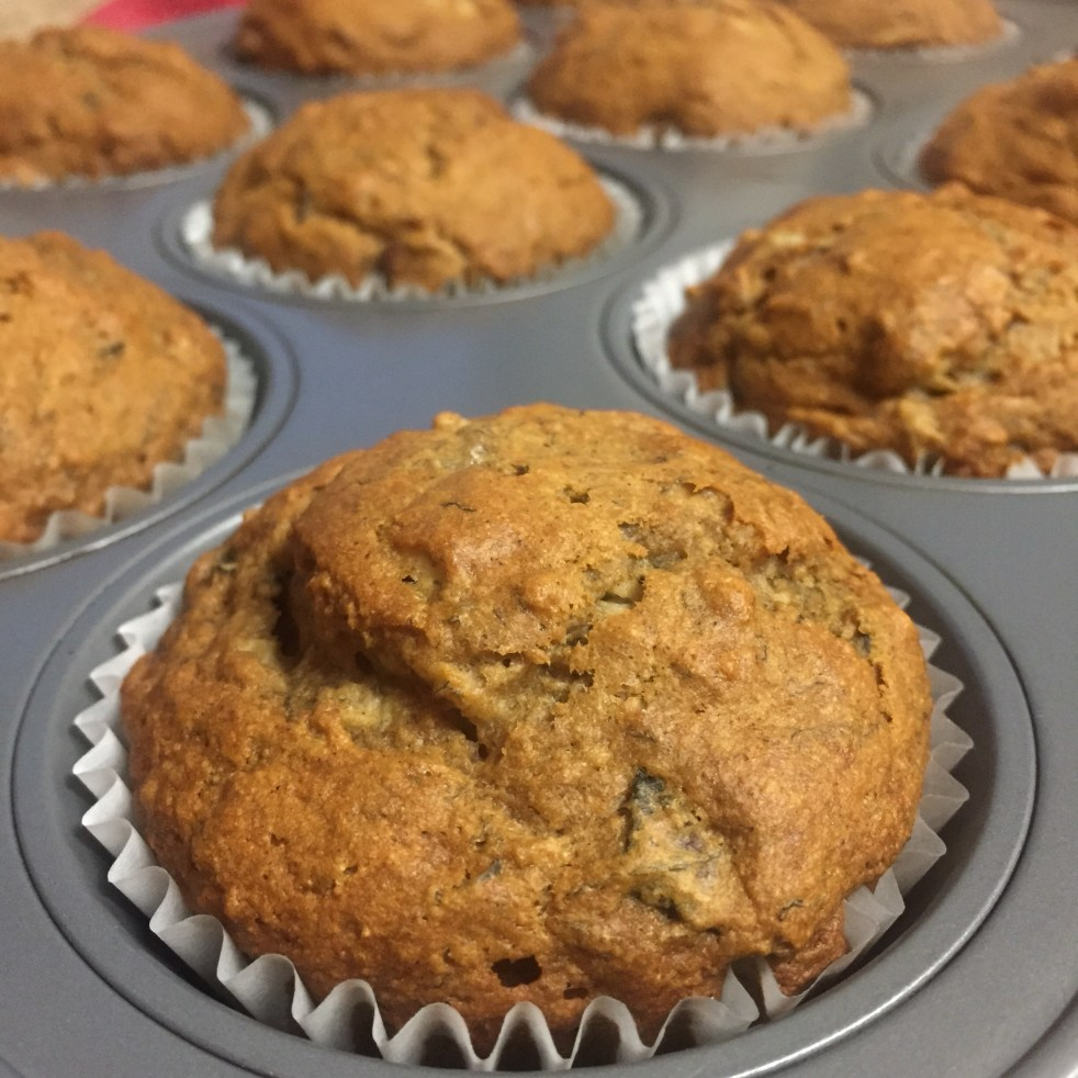 gluten free banana apple muffins