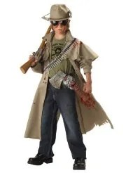 zombie hunter halloween costume for boys