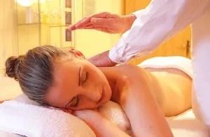 getting massaged