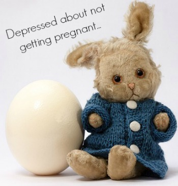 Getting depressed not getting pregnant
