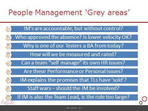 People Issues and performance reviews \u2013 Team Leader or Iteration