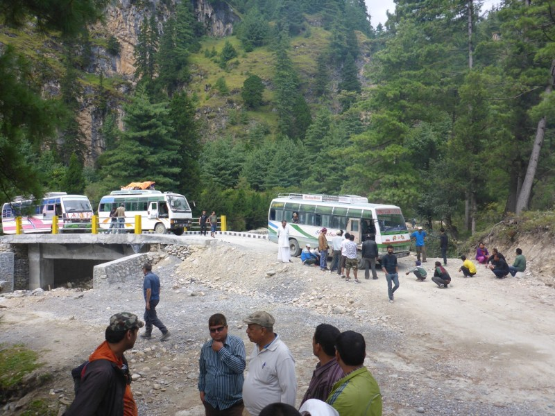 Bus broken down Nepal