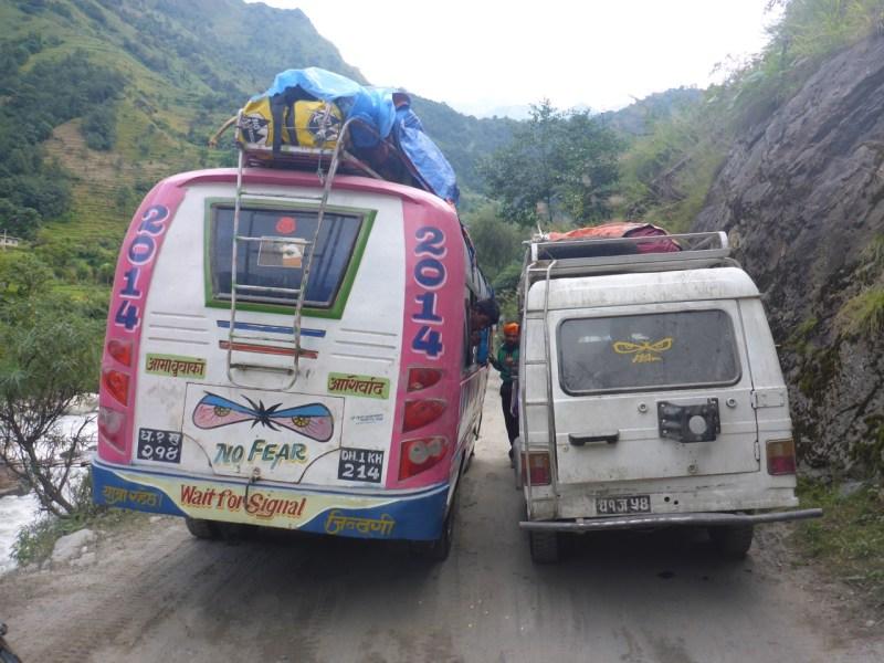 Narrow roads in Nepal