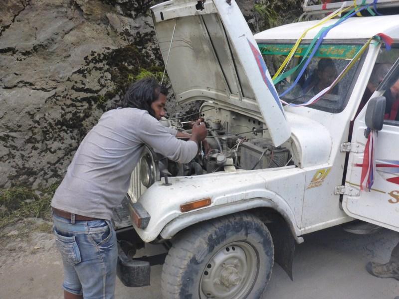 Broken Jeep in Nepal