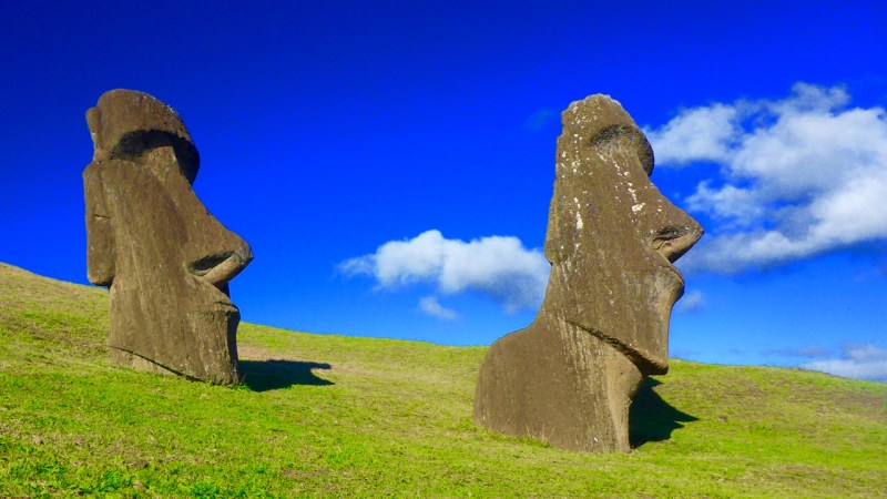 Rapa Nui Moai on Easter Island