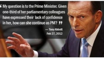Will Tony Abbott's words come back to haunt him?