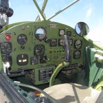 Control panel/cockpit of a Cessna O-1E/L-19 Bird Dog at the Planes of Fame Air Museum, Chino, Calif. (Media credit/Davefoc via Wikimedia)