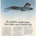"A Texas Instruments advertisement for its AGM-88 ""HARM"""